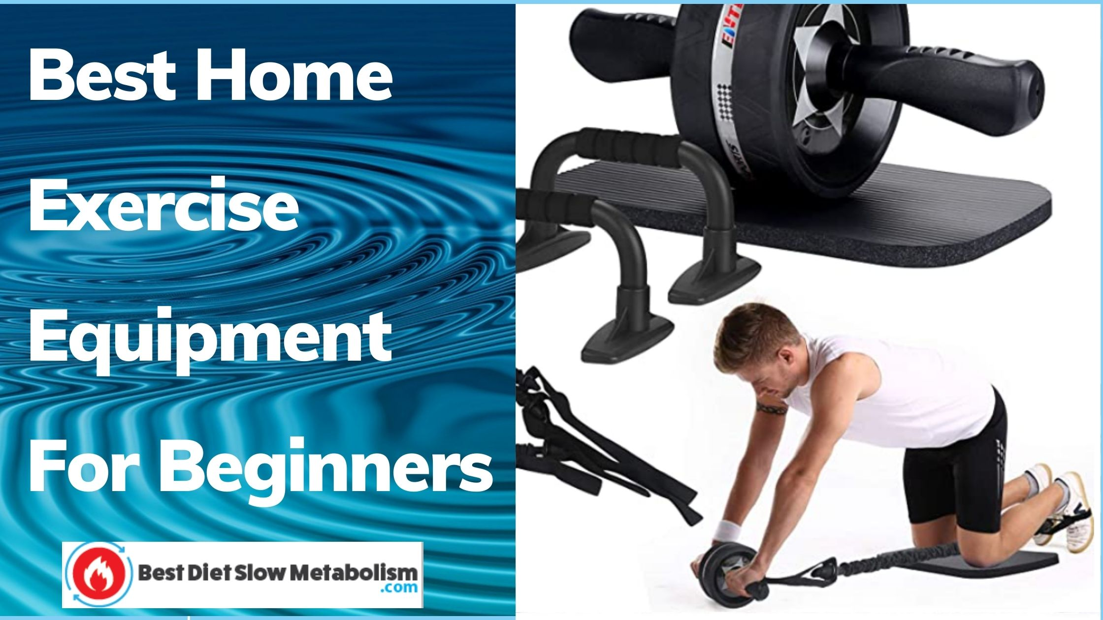 Best Home Exercise Equipment For Beginners - EnterSports Ab Roller Kit